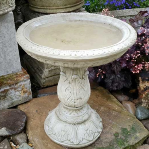 Ornate Small Birdbath